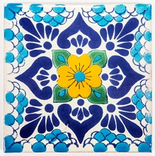 Amarillo - carreaux d'un type Talavera